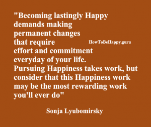 Becoming lastingly happy
